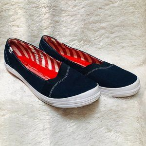 Keds Carmel Women's Navy/Red Slip-On Shoes